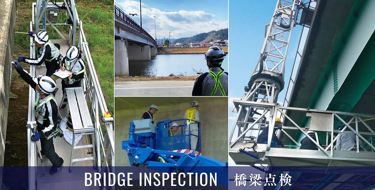 BRIDGE INSPECTION 橋梁点検作業